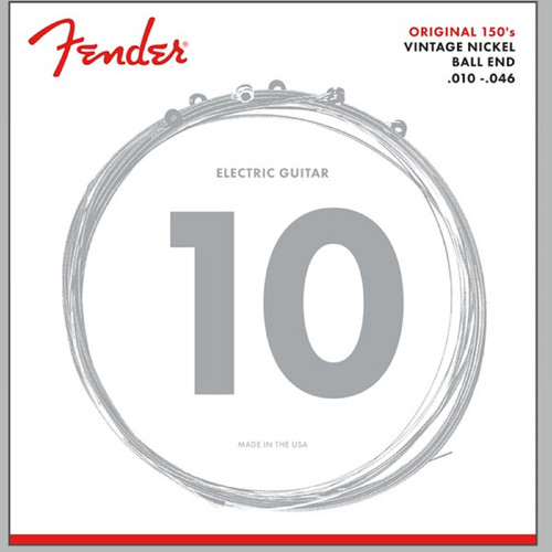Fender 150R Pure Nickel Ball End Design .010-.046 Electric Guitar Strings, 073-0150-406