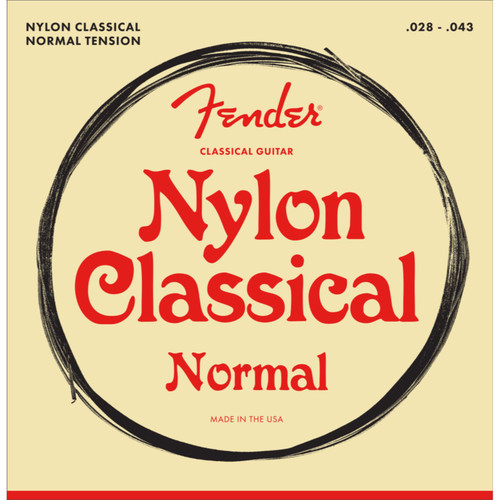 Fender 100 Clear Nylon Tie End .028-.043 Classical Guitar Strings, 073-0100-400 (073-0100-400)