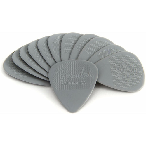 Fender Classic 351 Shape .73mm Nylon Guitar Picks, 098-6351-800