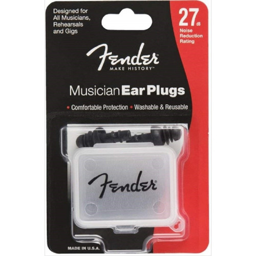 Fender Musician Series Ear Plugs with Carrying Case, Black (099-0542-000)
