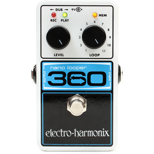 Electro-Harmonix Nano Looper 360 Looper Effects Pedal (EHX-360L)