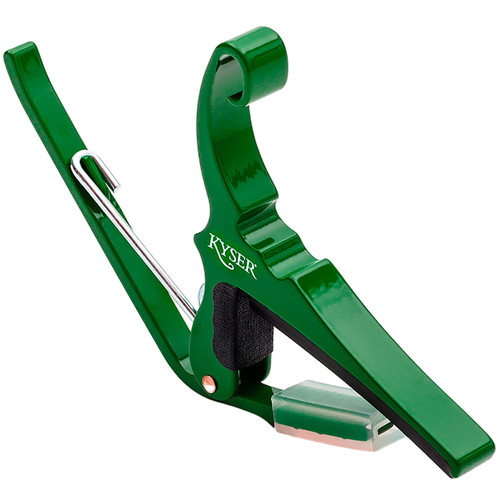 Kyser KG6EG Quick Change 6-String Acoustic Guitar Capo, Emerald Green