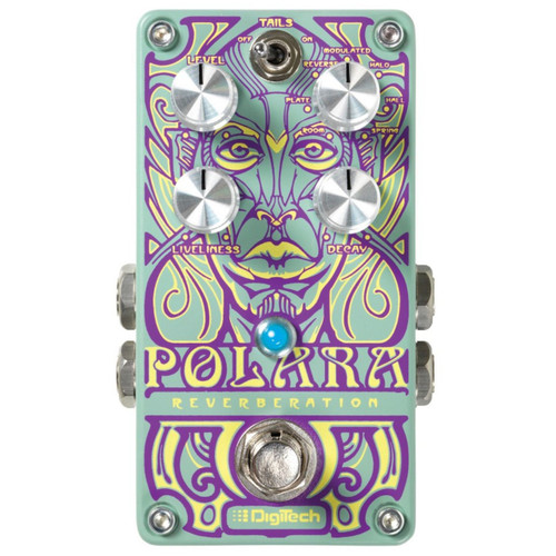DigiTech Polara Lexicon Stereo Reverb Guitar Effects Pedal (POLARA)