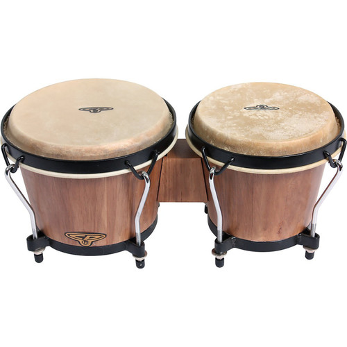 Latin Percussion CP221-DW Traditional Wood Bongos, Dark Wood (CP221-DW)