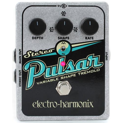 Electro-Harmonix XO Stereo Pulsar Variable Shape Analog Tremolo Guitar Effects Pedal (MSTEREOPULSAR)