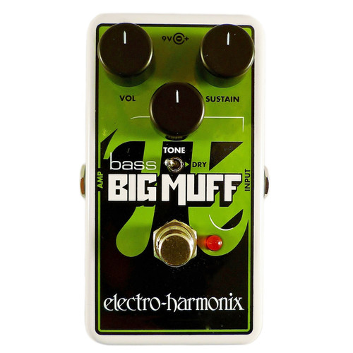 Electro-Harmonix Nano Bass Big Muff Pi Distortion/Sustainer Bass Effects Pedal (NBBMUFF)