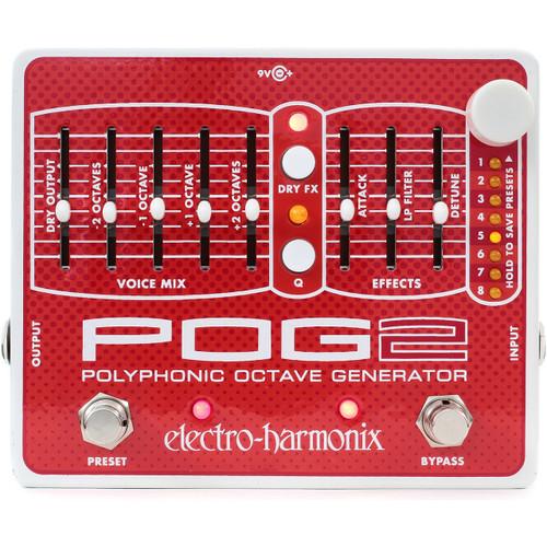 Electro-Harmonix EHX POG 2 Polyphonic Octave Generator Effects Pedal (EHX-POG2)