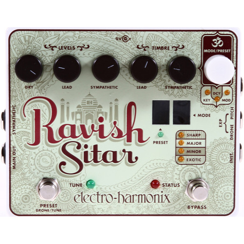 Electro-Harmonix RAVISH SITAR Emulation Effects Pedal