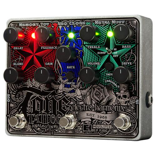 Electro-Harmonix Tone Tattoo Analog Multi-Effects Pedal with Power Supply (EHX-TATTOO)