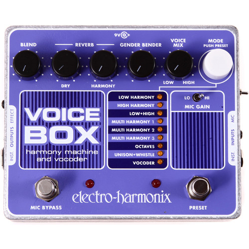 Electro-Harmonix VOICE BOX Vocal Harmony Machine/Vocoder Effects Pedal