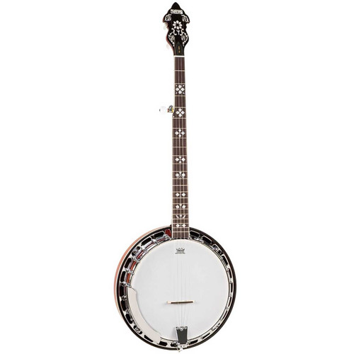 Recording King RK-R20 Songster 5-String Bluegrass Resonator Banjo w/ Remo Head, Natural
