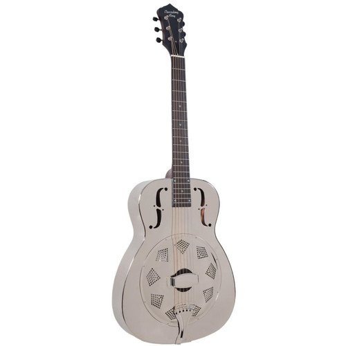 Recording King RM-998-R Style-0 Roundneck Acoustic Resonator Guitar, Nickel-Plated (RM-998-R)