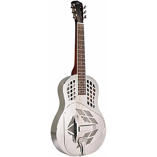 Recording King RM-991 Tricone Roundneck Acoustic Resonator Guitar, Nickel-Plated (RM-991)