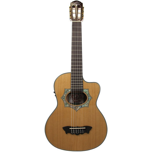 Oscar Schmidt OH30SCE Acoustic Electric Requinto Guitar with Gig Bag (OH30SCE)