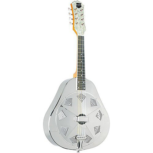 New Recording King RA-998 Metal Body Acoustic Resonator Mandolin, Nickel-Plated