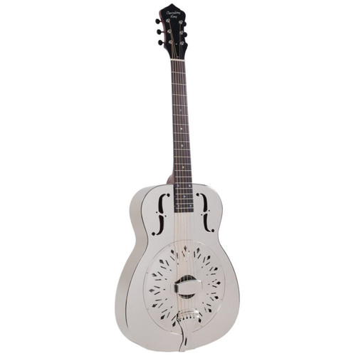 Recording King RM-998-D Style-0 Roundneck Acoustic Resonator Guitar, Nickel-Plated (RM-998-D)