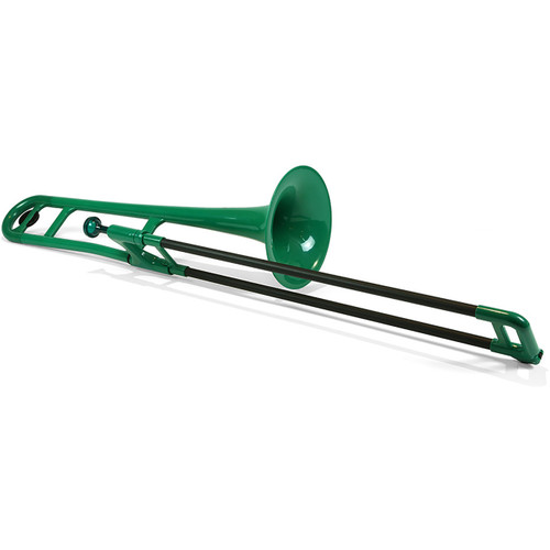 Jiggs pBone PBONE1G Plastic Bb Tenor Trombone with Carrying Bag, Green