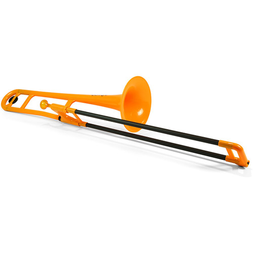 Jiggs pBone PBONE1OR Plastic Bb Tenor Trombone with Carrying Bag, Orange