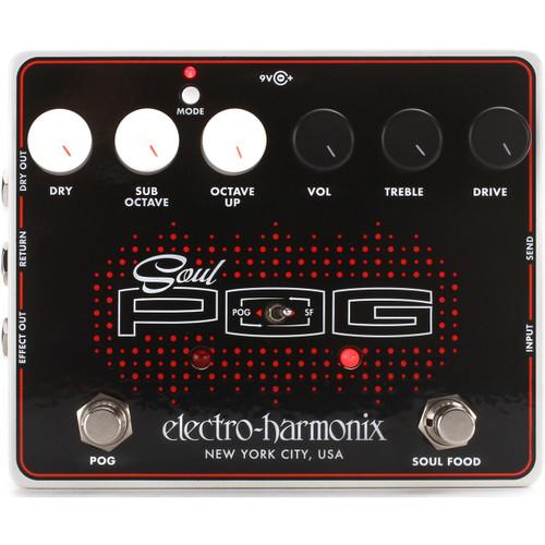 Electro-Harmonix Soul POG Overdrive/Octave Generator Multi-Effects Pedal (SOULPOG)