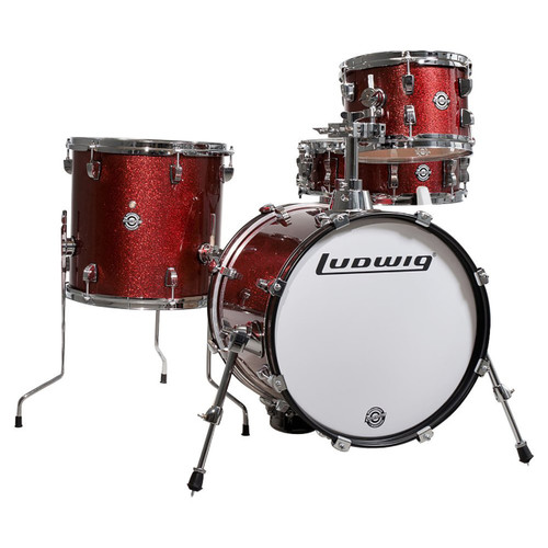 Ludwig LC179X025 Breakbeats by Questlove 4-Piece Shell Pack, Wine Red Sparkle