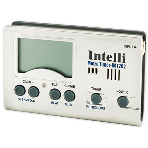 Intelli IMT-202 Digital Chromatic Instrument Tuner and Metronome with Stand (IMT202)