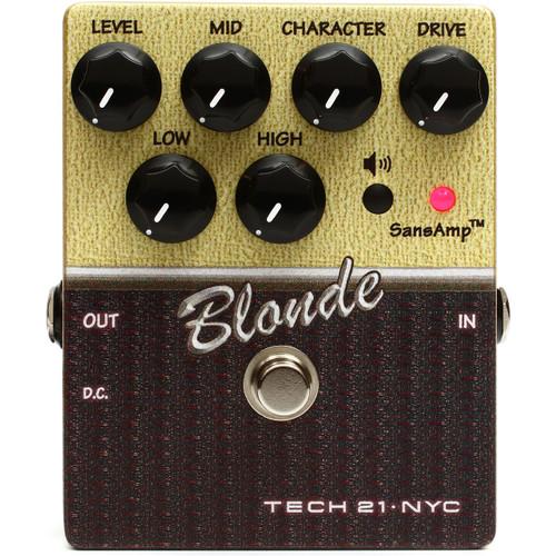 Tech 21 SansAmp Character Series Blonde V2 Distortion Pedal, CS-BL-V2