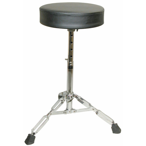 GP Percussion D250 Adjustable Heavy-Duty Double-Braced Drum Throne