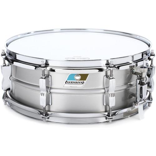 "Ludwig LM404C Acrolite Classic 5"" x 14"" Brushed Aluminum Snare Drum, Matte Finish"
