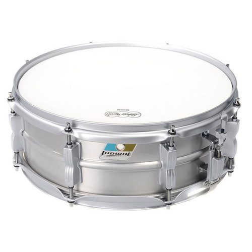 """Ludwig LM404LTD Limited Edition Acrolite 5"""" x 14"""" Snare Drum, Brushed Aluminum"""