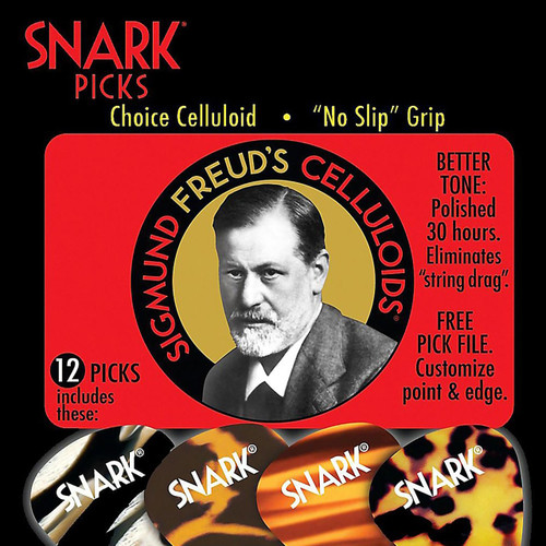 Snark Picks 100C Sigmund Freud Celluloid Guitar Picks, Heavy 1.0mm - 12 Pack