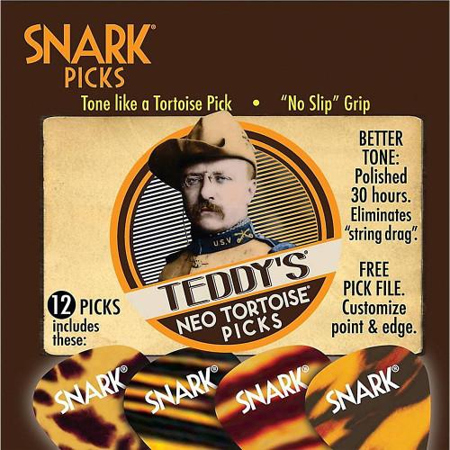Snark Picks 107NT Teddy's Neo Tortoise Guitar Picks, Heavy 1.07mm - 12 Pack