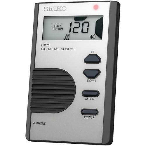 Seiko DM71 Pocket Size Digital Metronome, Silver