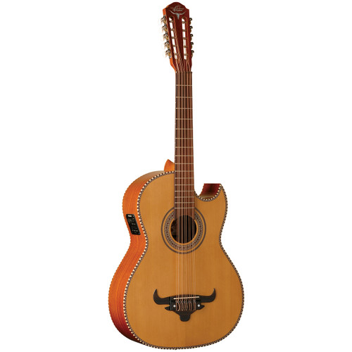 Oscar Shmidt OH42SE Acoustic-Electric Bajo Quinto Guitar w/ Gig Bag, Natural