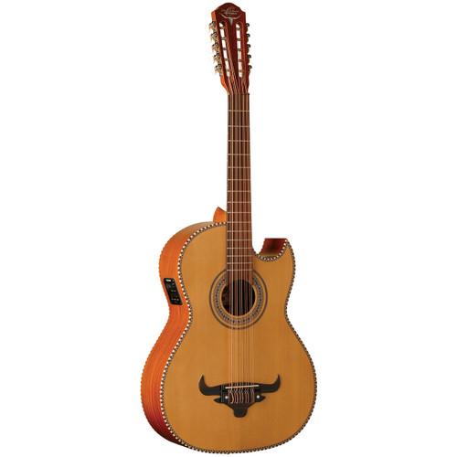 Oscar Schmidt OH42SE Acoustic Electric Bajo Quinto Guitar with Gig Bag, Natural (OH42SE)