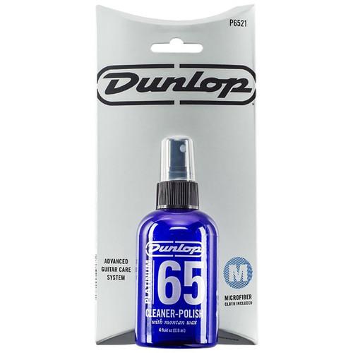 Dunlop P6521 Advanced Guitar Care System - Platinum 65 Guitar Cleaner Polish Kit & Cloth