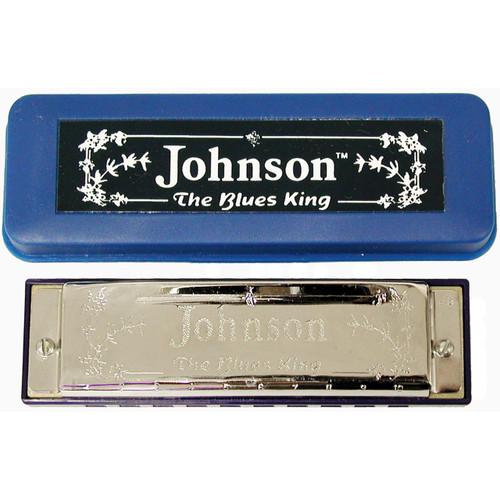 Johnson BK-520-G Blues King Harmonica, Key of G - Single Harp with Case