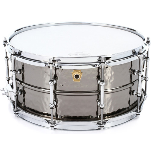 "Ludwig LB417KTWM Black Beauty 6.5""x14"" Snare Drum - Black Nickel Finish"