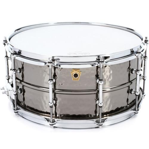 Ludwig LB417KTWM Black Beauty Hammered 6.5x14 Snare Drum, Black Nickel