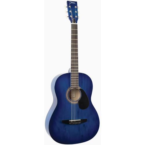 Johnson JG-100-BL Student Acoustic Guitar, Blue Burst