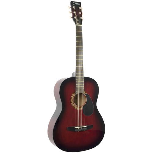 Johnson JG-100-R Student Acoustic Guitar, Red Burst