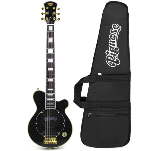 Pignose PG-200 Deluxe Mini Electric Travel Guitar with Built-in Amp and Gig Bag, Black (PGG-200BK-KIT)