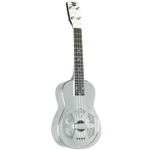 Recording King RU-998 Metal Resonator Ukulele, Nickel Plated (RU-998)