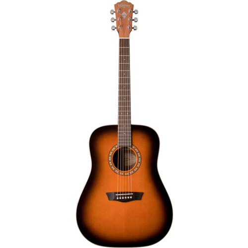 Washburn WD7SATB Solid Spruce Top Dreadnought Acoustic Guitar, Tobacco Sunburst