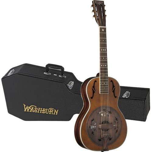Washburn Vintage Series R360K Parlor Acoustic Resonator Guitar w/ Case