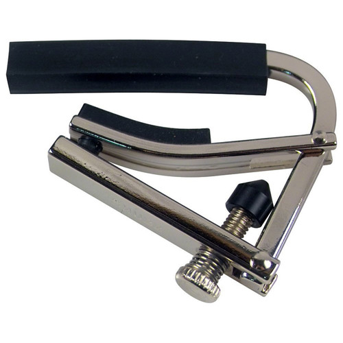 Shubb L1 Lite Capo for Steel String Acoustic & Electric Guitars, Silver