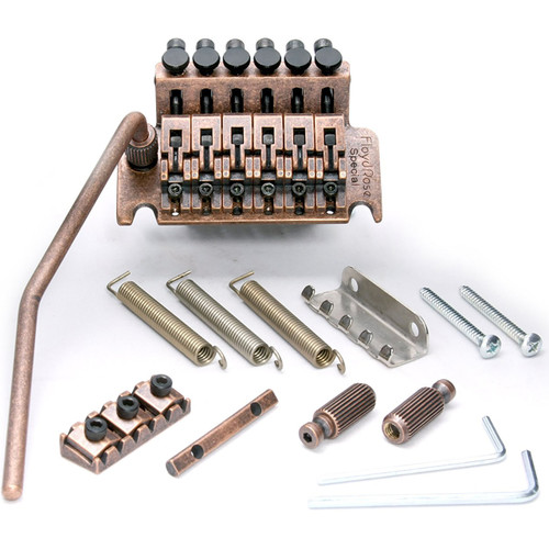 Floyd Rose FRTS7000R2 Special Series Tremolo System with R2 Nut, Antique Bronze