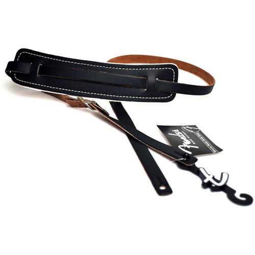 Fender Standard Vintage Leather Guitar Strap, Black (099-0689-000)