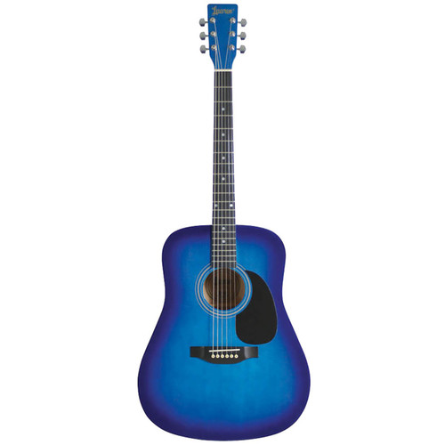 Lauren LA125BL 6-String Dreadnought Acoustic Guitar, Blue Burst