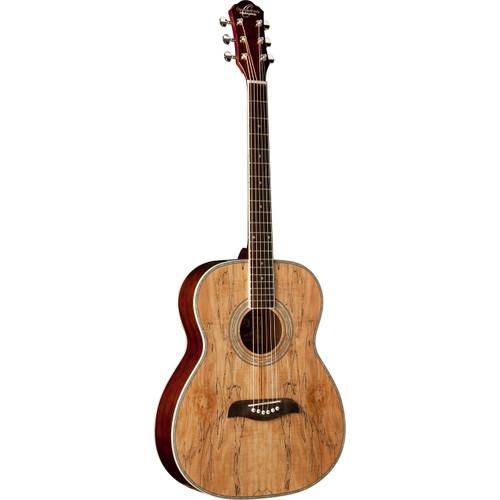 Oscar Schmidt OF2SM Folk-Style Acoustic Guitar, Spalted Maple (OF2SM)
