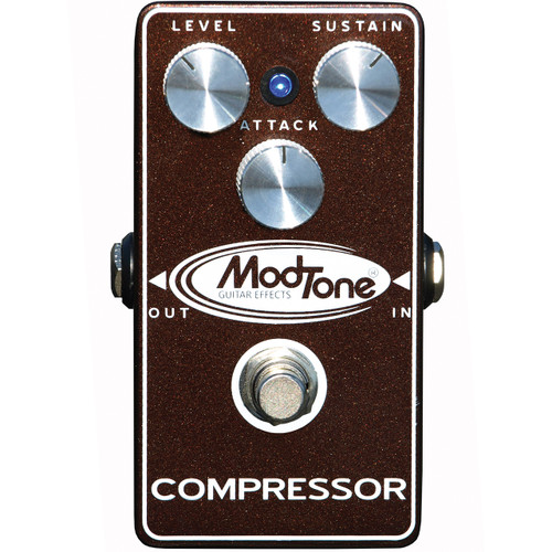 ModTone MT-CR Brown Crush Compressor Effects Pedal